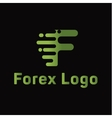 Abstract for forex f letter companies trending vector image