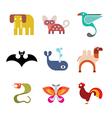 animal icon set 9 vector image