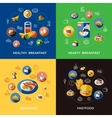Cereal Icon Set vector image