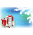 abstract background with christmas decorations vector image vector image