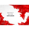 Abstract explosion of colorful particles vector image vector image