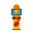 arcade game machine video gaming amusement vector image
