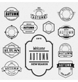 Autumn badges logos and labels for any use vector image vector image
