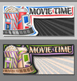 banners for movie time vector image