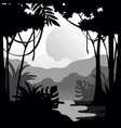 beautiful tropical scenery with rainforest vector image vector image