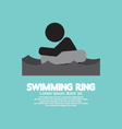 Black Symbol Swimming Ring vector image vector image