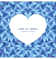 blue triangle texture heart silhouette pattern vector image vector image