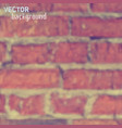 blurred background with brickwall vector image