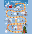 board game merry christmas and happy new year vector image vector image