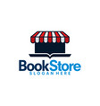 book store logo template sale learning logo vector image vector image