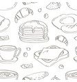 breakfast collection set pattern vector image vector image