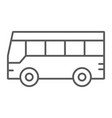 bus thin line icon traffic and public vehicle vector image vector image