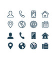 business card related icon set in glyph vector image