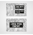 Business card template whit hand-drawn waves vector image vector image