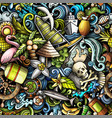 cartoon doodles bahamas seamless pattern vector image