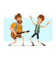 cartoon rock and roll boys character set vector image vector image