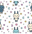 childish seamless pattern with cute little vector image vector image