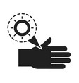cleaning disinfection infected hand virus vector image vector image