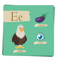 colorful alphabet for kids - letter e vector image vector image
