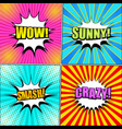 comic book pages collection vector image