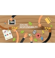 customer business social responsibility concept vector image vector image