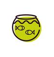 cute little fish in aquarium vector image vector image