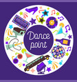 dance party invitation poster discoteque vector image