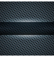 Dark blue metal background for your design vector image