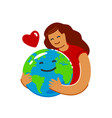 earth day ecology concept in flat style save vector image