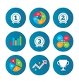 First second and third place icons Award medal vector image vector image