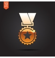 Flat medal vector image vector image