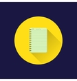 Flat notebook icon vector image vector image
