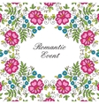 flower design lace frame colorful invitation vector image vector image