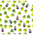 fresh plum and slice vector image
