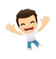 funny cartoon casual man vector image vector image
