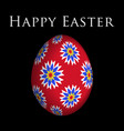 greeting card colored flowers on easter egg vector image vector image