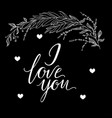 greeting card composition with i love you vector image