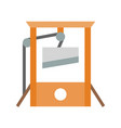 guillotine halloween related icon flat design vector image vector image