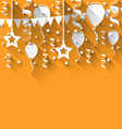 happy birthday background with balloons stars and vector image vector image