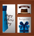 happy fathers day card image vector image vector image