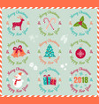 icons for christmas and new year vector image vector image