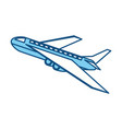 isolated airplane taking off vector image vector image