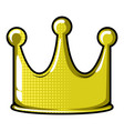 isolated crown icon vector image
