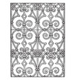 italian renaissance pattern is a repeating vector image vector image