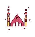 jewish temple icon design vector image vector image