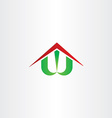 letter w house home symbol vector image