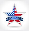 memorial day usa star ribbon vector image vector image