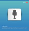 microphone icon - blue sticker button vector image