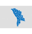 moldova map - high detailed blue map with vector image vector image