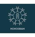 Monogram Design Template with Letter Premium vector image